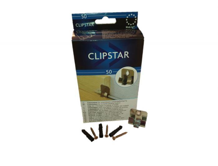 Metall-Befestigungsclip für Sockelleisten Clipstar